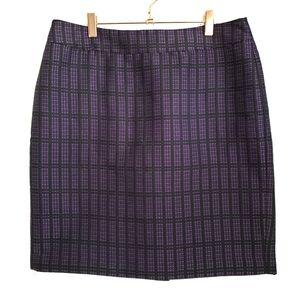 ANN TAYLOR Purple Black Pencil Skirt Size 12P
